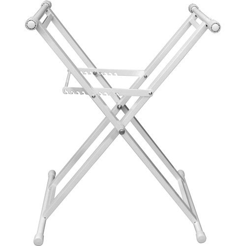 Odyssey Innovative Designs Heavy-Duty X Stand for DJ Coffins (White)