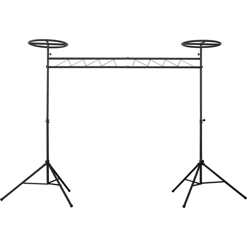 Odyssey Innovative Designs Mobile Lighting Truss System with Fixed Halos (Black)
