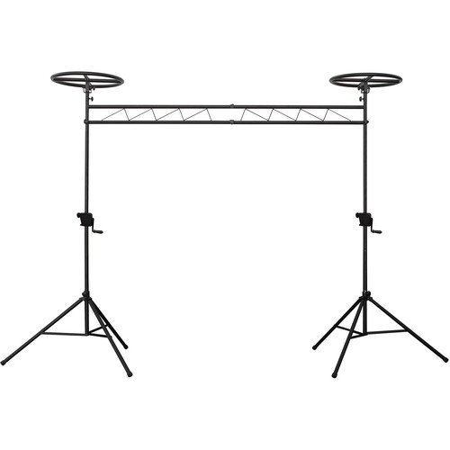 Odyssey Innovative Designs Mobile Lighting Truss System with Adjustable Halos (Black)