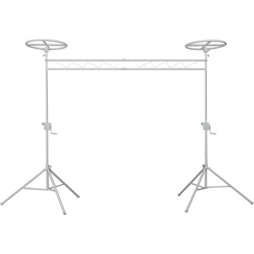 Odyssey Innovative Designs Mobile Lighting Truss System with Adjustable Halos (White)