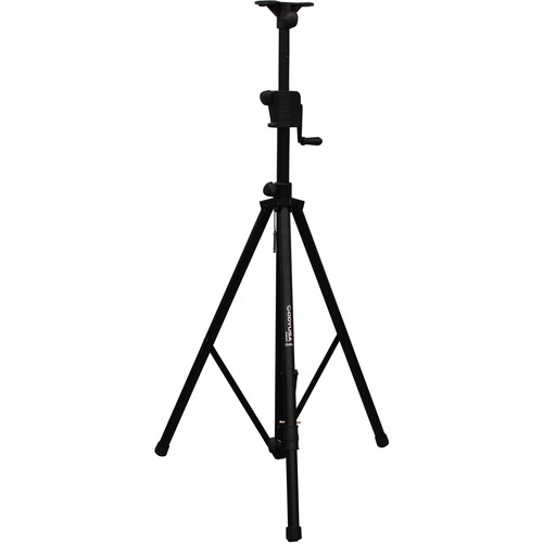 Odyssey Innovative Designs LTS1APRO Luxe Series Articulating Tripod Crank-Up Stand (8', Black)