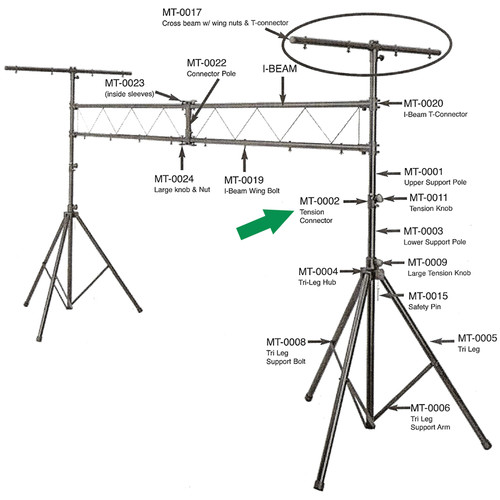 Odyssey Innovative Designs Top Tension Collar Assembly for LTMTS-3 Truss System