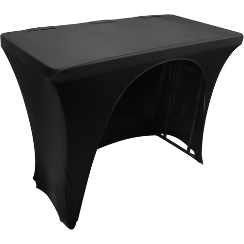 Odyssey Innovative Designs Scrim Werks Slip Screen Designer Scrim Cover for 4' Banquet Table (Black)