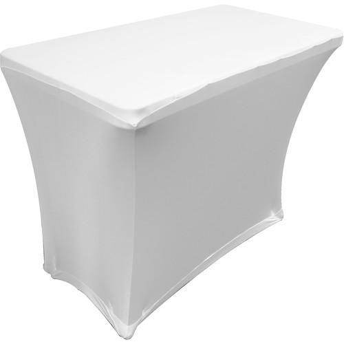 Odyssey Innovative Designs Scrim Werks Banquet Table Slip Screen Designer Scrim (4', White)