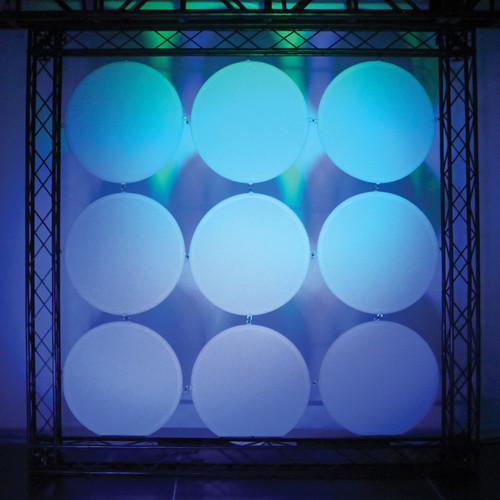 "Odyssey Innovative Designs Scrim Werks 22"" Circular Decor Panel - 9 Piece Display Set"