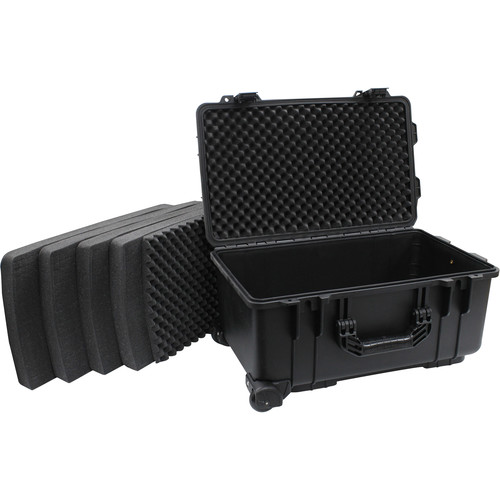 "Odyssey Innovative Designs Watertight & Dust-Proof Vulcan Series Utility Trolley Case with Pullout Handle & Wheels (Interior: 20 x 9.5 x 11.5"")"