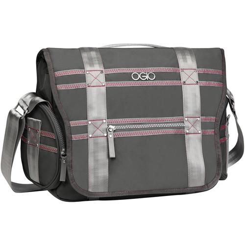 OGIO Monaco Messenger Bag (Gray & Pink)