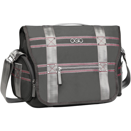 OGIO Monaco Messenger Bag (Gray & Pink)
