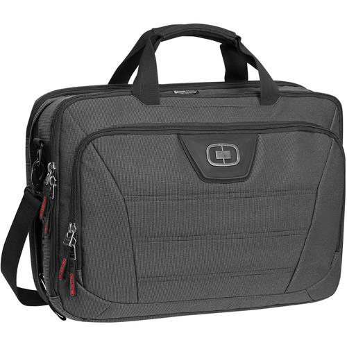 OGIO Renegade Top Zip Shoulder Bag (Black Pindot)