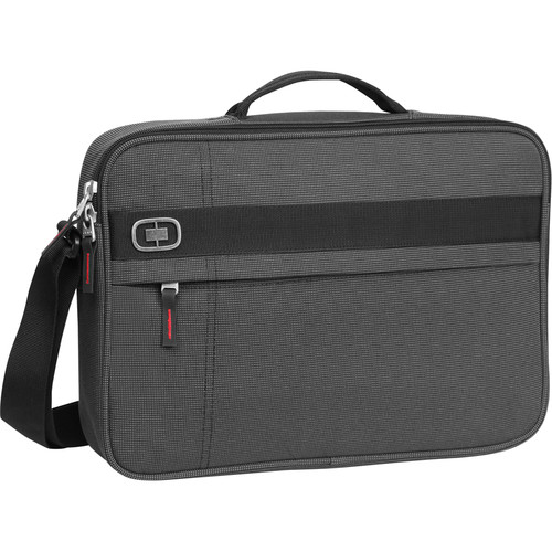 OGIO Renegade Brief Laptop Case (Black Pindot)