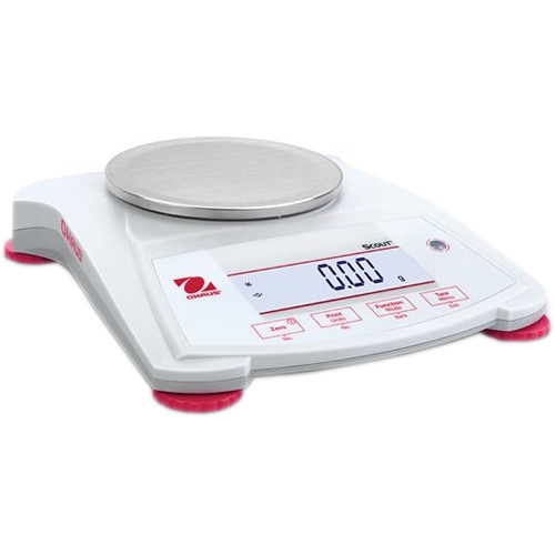 Ohaus Scout Portable Balance with 14.8 oz Capacity (0.1 g Linearity, 1 sec Stabilization Time)
