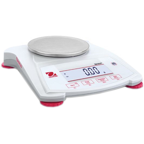 Ohaus Scout Portable Balance with 14.8 oz Capacity (0.01 g Linearity, 1 sec Stabilization Time)