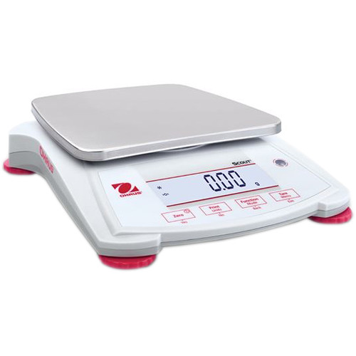 Ohaus Scout Portable Balance with 218.7 oz Capacity (0.2 g Linearity, 1 sec Stabilization Time)