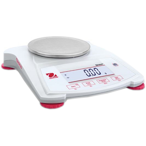 Ohaus Scout Portable Balance with 21.9 oz Capacity (0.02 g Linearity, 1 sec Stabilization Time)
