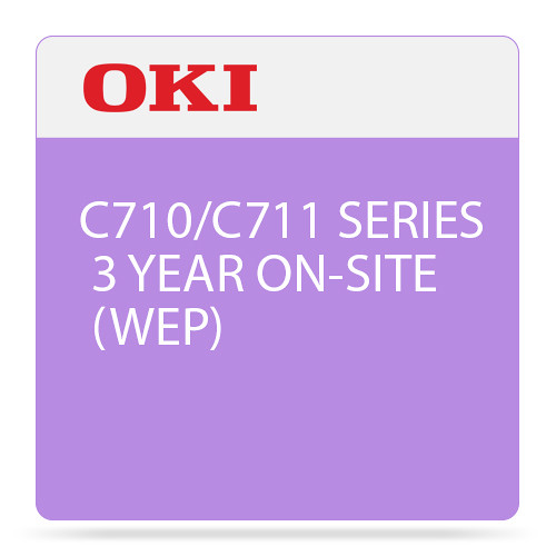 OKI 3-Year On-Site Warranty Extension License for C710/C711 Color Printer Series