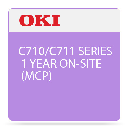 OKI 1-Year On-Site Maintenance Contract for C710/C711 Color Series Printer