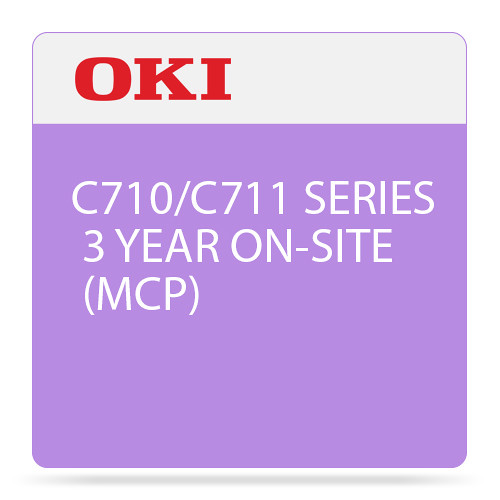 OKI 3-Year On-Site Maintenance Contract for C710/C711 Color Series Printer