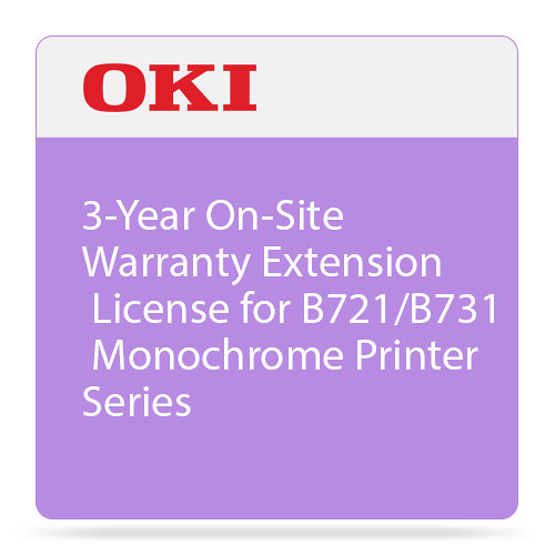 OKI 3-Year On-Site Warranty Extension for B721/B731 Monochrome Printer Series