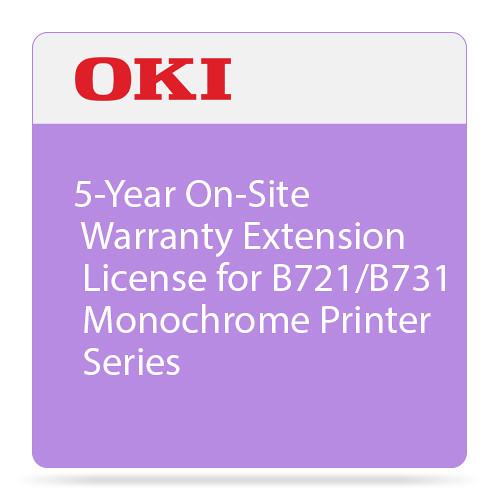 OKI 5-Year On-Site Warranty Extension for B721/B731 Monochrome Printer Series