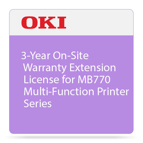 OKI 3-Year On-Site Warranty Extension Program for MB770 Series Printers