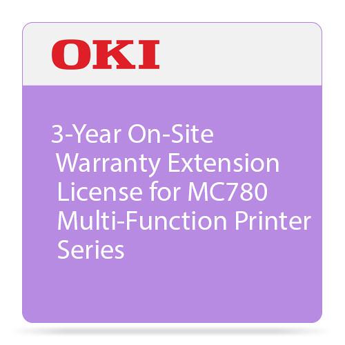 OKI 3-Year On-Site Warranty Extension Program for MC780 Series Printers