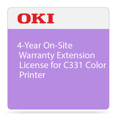 OKI 4-Year On-Site Warranty Extension for C331 Color Printer