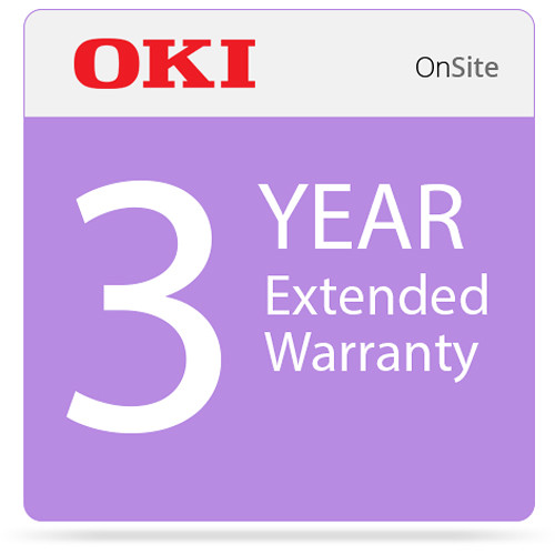 OKI 3-Year On-Site Warranty Extension Program for C831 Series Printers