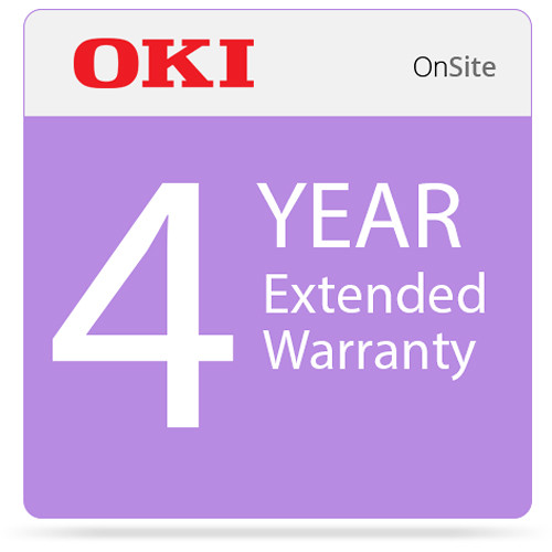 OKI 4-Year On-Site Warranty Extension Program for C831 Series Printers