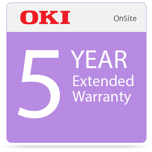 OKI 5-Year On-Site Warranty Extension Program for C831 Series Printers