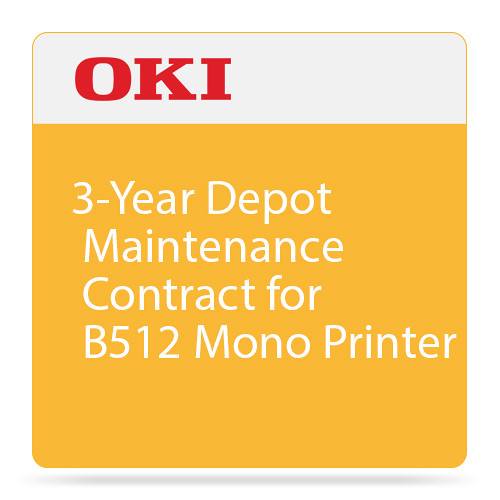 OKI 3-Year Depot Maintenance Contract for B512 Mono Printer