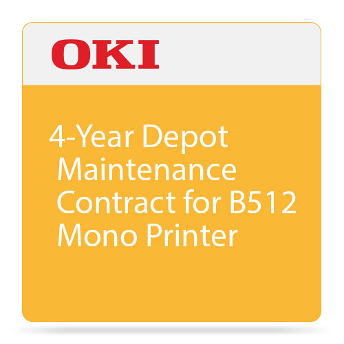 OKI 4-Year Depot Maintenance Contract for B512 Mono Printer
