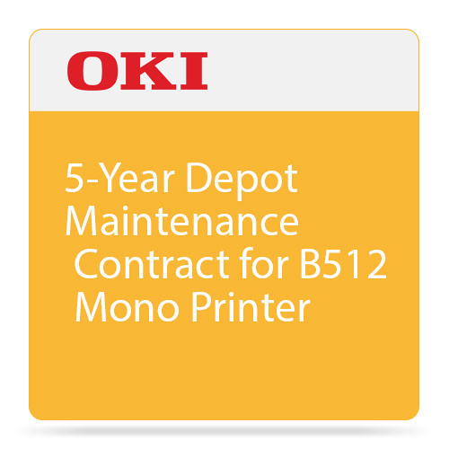 OKI 5-Year Depot Maintenance Contract for B512 Mono Printer