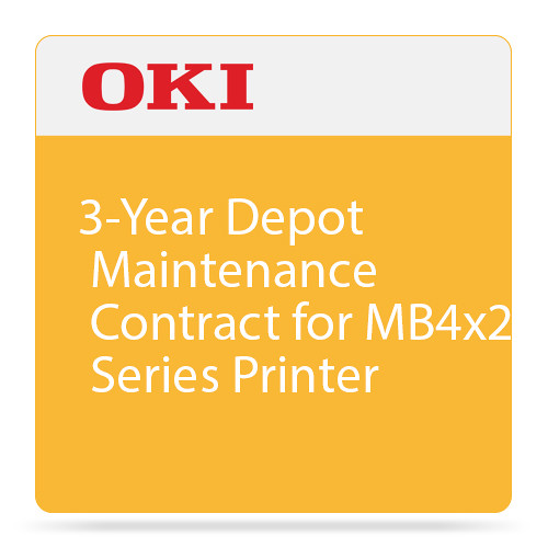 OKI 3-Year Depot Maintenance Contract for MB4x2 Series Printer
