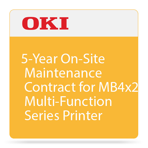 OKI 5-Year On-Site Warranty Extension Program for MB4x2 Series Printers
