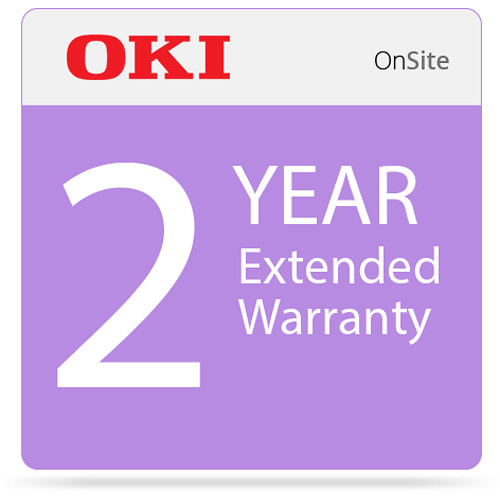 OKI 2-Year On-Site Warranty Extension Program for MC873 Series Printers