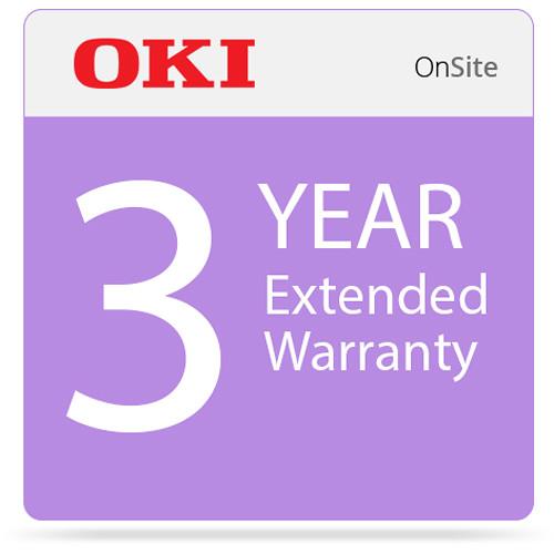 OKI 3-Year On-Site Warranty Extension Program for MC873 Series Printers