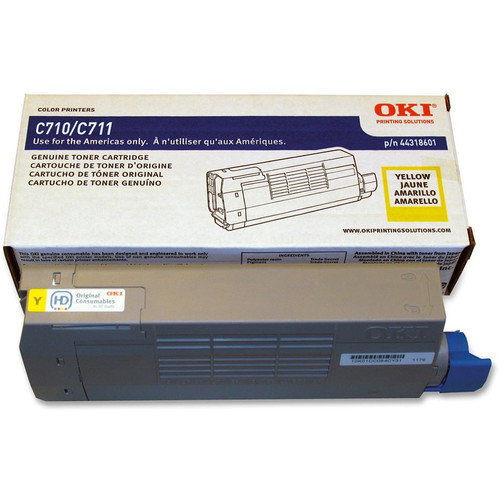 OKI C711 Series Yellow Toner Cartridge