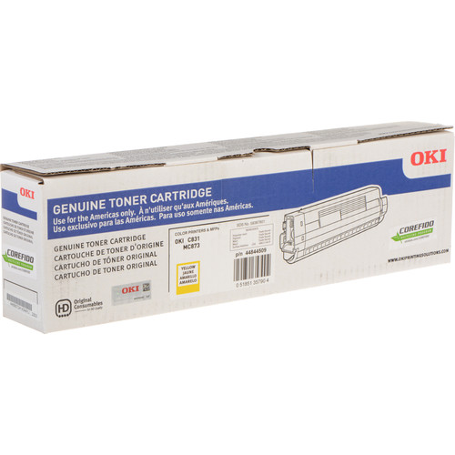 OKI 10K Yellow Toner Cartridge for C831 & MC873 Printers