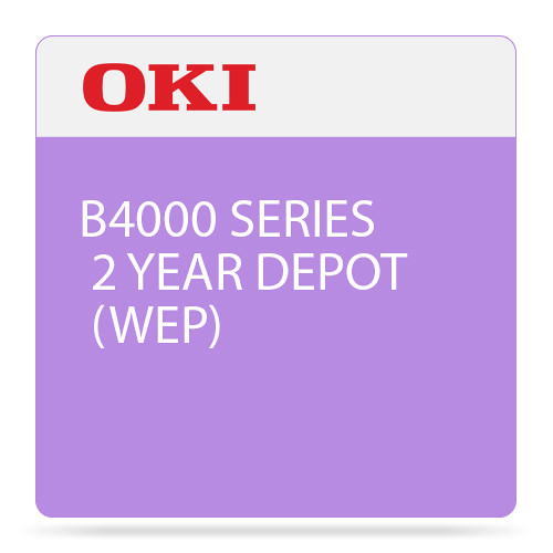 OKI 2-Year Depot Warranty Extension License for B4000 Mono Printer Series