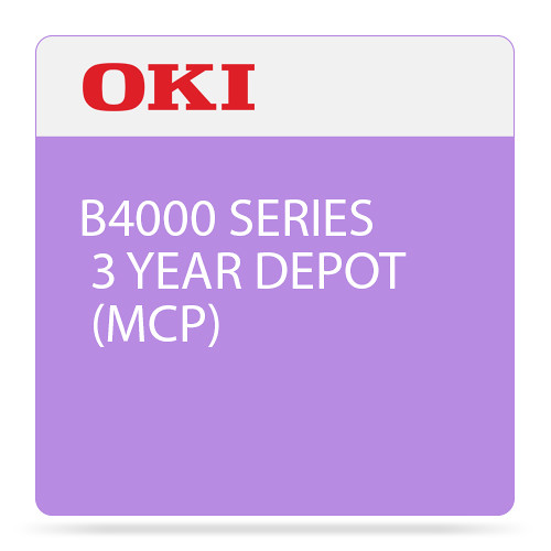 OKI 3-Year Depot Maintenance Contract for B4000 Mono Series Printer