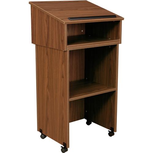 Oklahoma Sound Tabletop Lectern With Av Cart/Lectern Base (Medium Oak)
