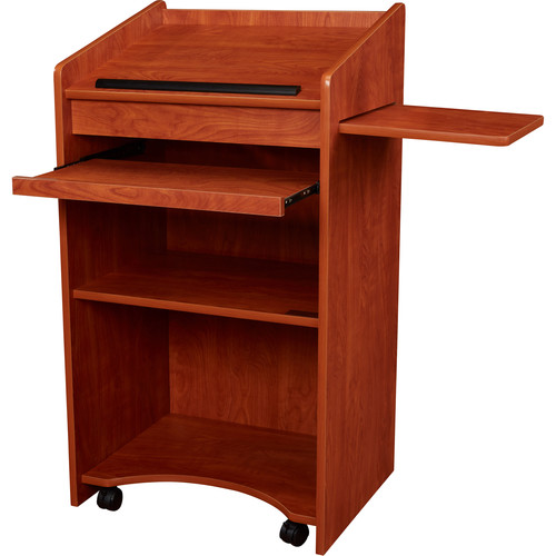 Oklahoma Sound Aristocrat Floor Lectern (Cherry Laminate)