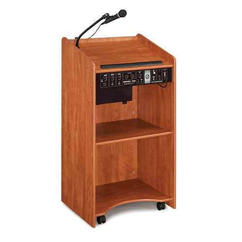 Oklahoma Sound Aristocrat Floor Lectern with Sound System (Cherry Laminate)