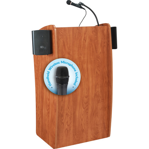Oklahoma Sound 611-S The Vision Lectern with LMW-5 Handheld Wireless Microphone