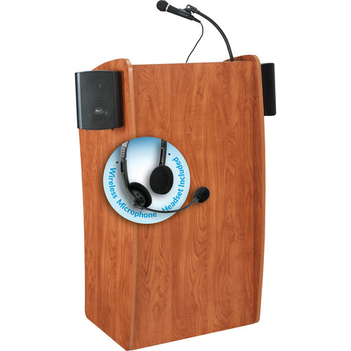 Oklahoma Sound 611-S The Vision Lectern with LMW-7 Headset Wireless Microphone