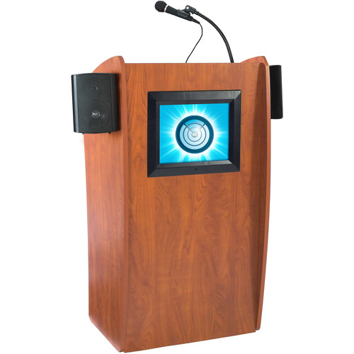 Oklahoma Sound Vision Lectern with Sound and Screen (Cherry)