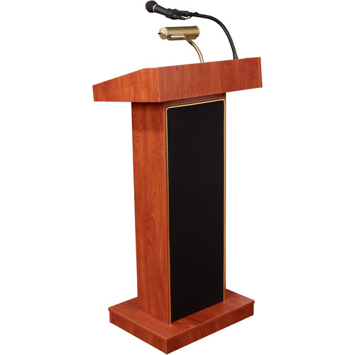 Oklahoma Sound The Orator Lectern with Sound System (Wild Cherry Laminate)