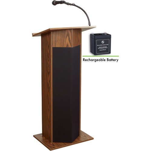 Oklahoma Sound 111PLS Power Plus Lectern (Medium Oak)