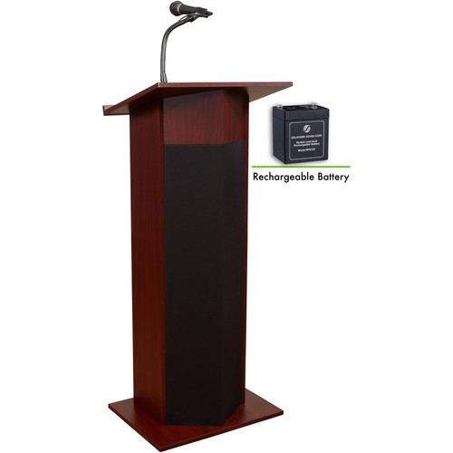 Oklahoma Sound Power Plus Lectern and Rechargeable Battery (Mahogany)