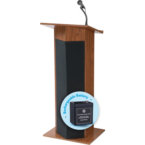 Oklahoma Sound Power Plus Lectern with Rechargeable Battery